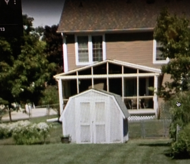 Trevor's family shed on Madden Place, Fishers, Indiana